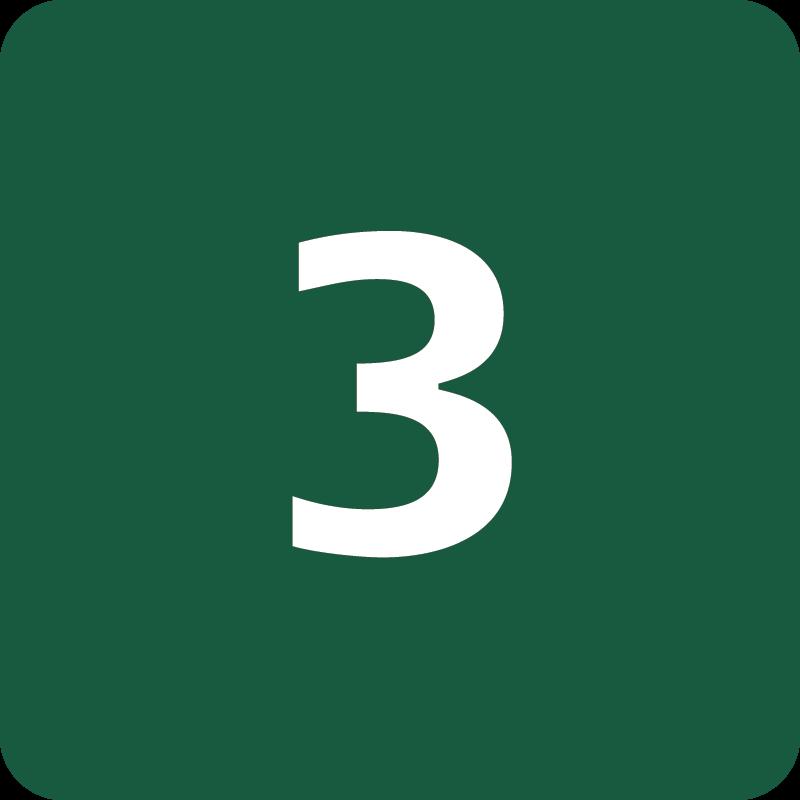 Rute 3 Naturstyrelsens skilt