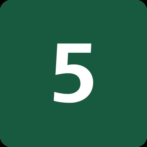 Rute 5 Naturstyrelsens skilt