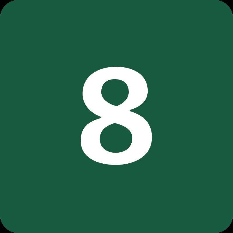 Rute 8 Naturstyrelsens skilt