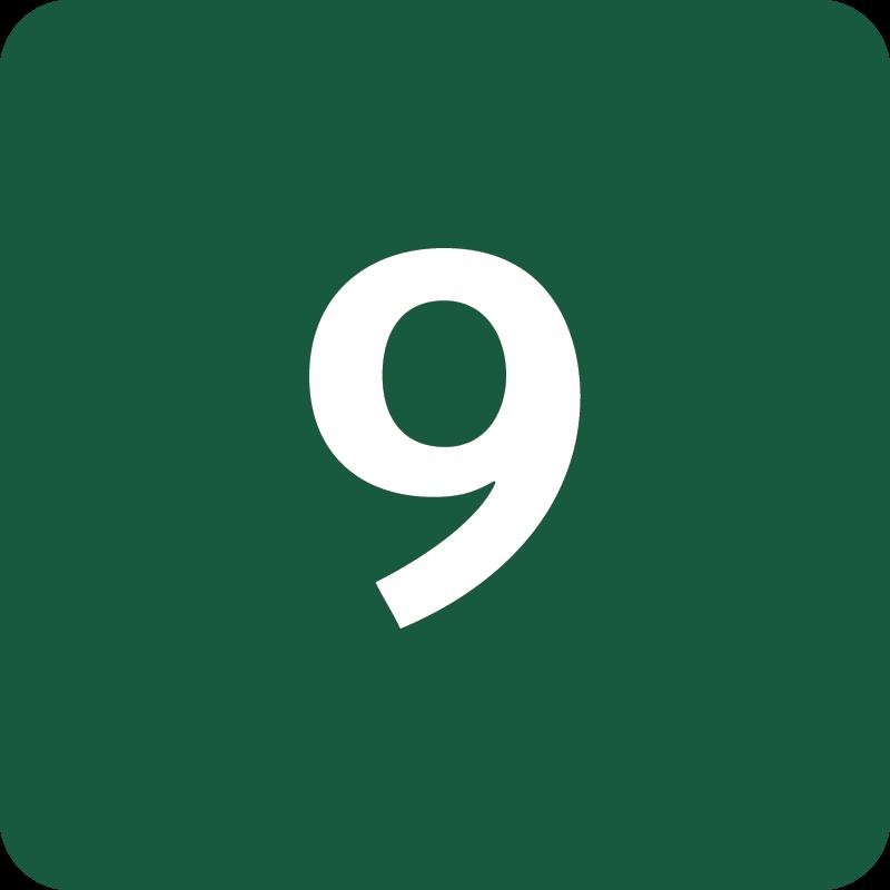 Rute 9 Naturstyrelsens skilt
