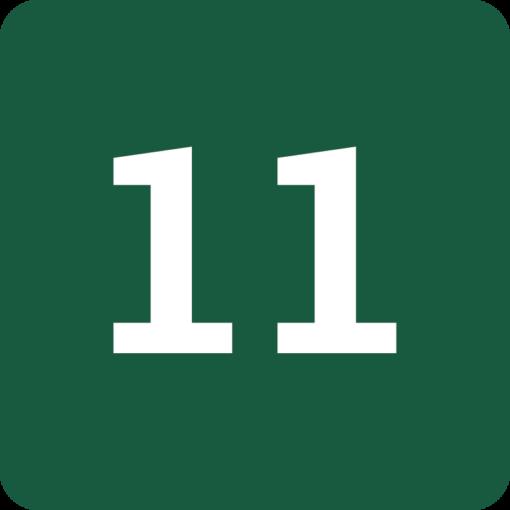 Rute 11 Naturstyrelsens skilt