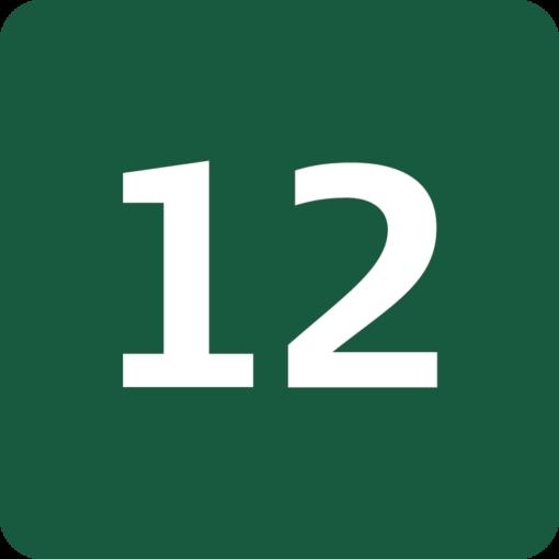 Rute 12 Naturstyrelsens skilt