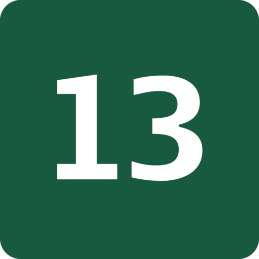 Rute 13 Naturstyrelsens skilt