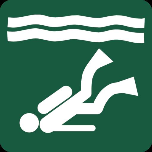 Dykning Naturstyrelsens skilt