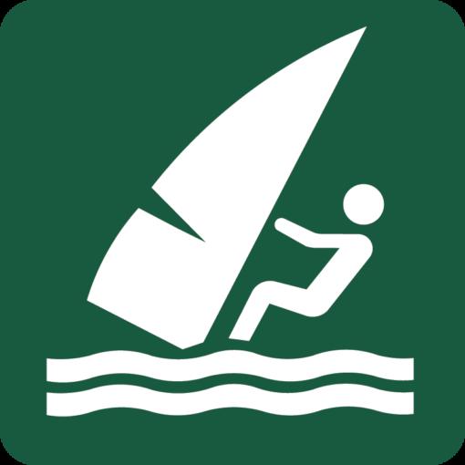 Windsurfing Naturstyrelsens skilt