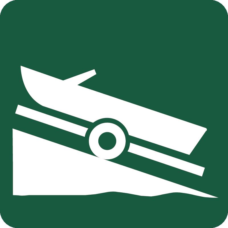Isætningssted for joller og motorbåde Naturstyrelsens skilt