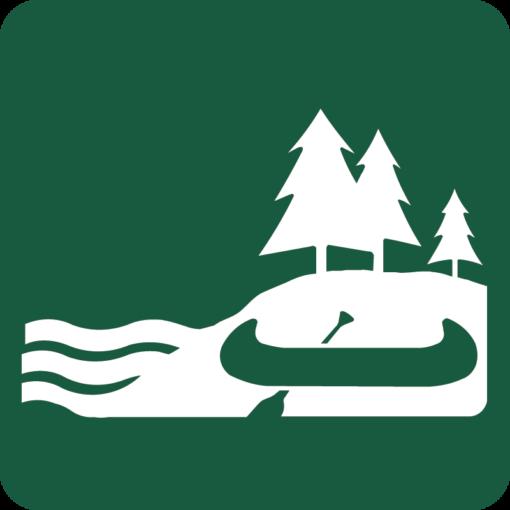 Kano- og kajaklandgangssted Naturstyrelsens skilt