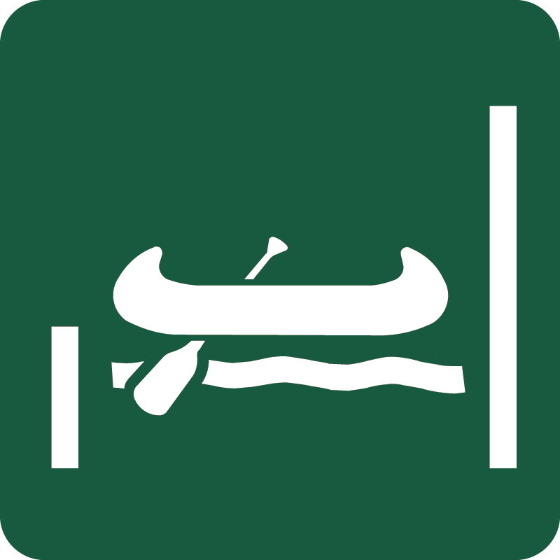 Kano- og kajaksluse Naturstyrelsens skilt