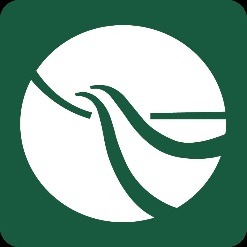 Spor i Landskabet Naturstyrelsens skilt