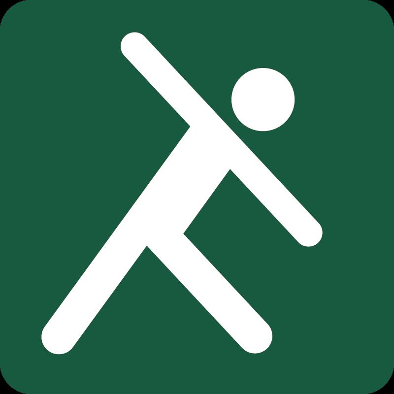 Udendørs træning Naturstyrelsens skilt