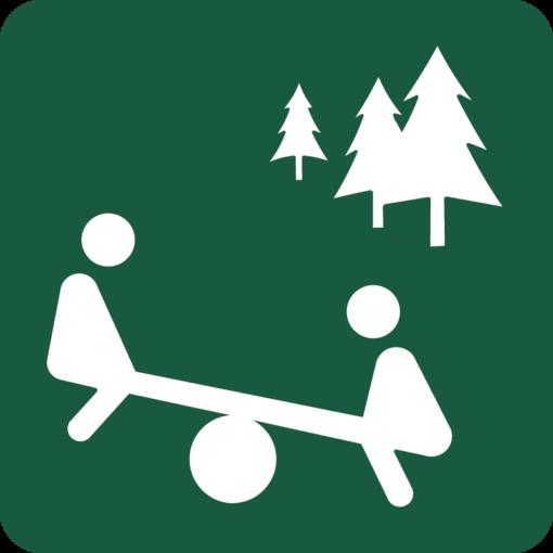 Skovlegeplads Naturstyrelsens skilt