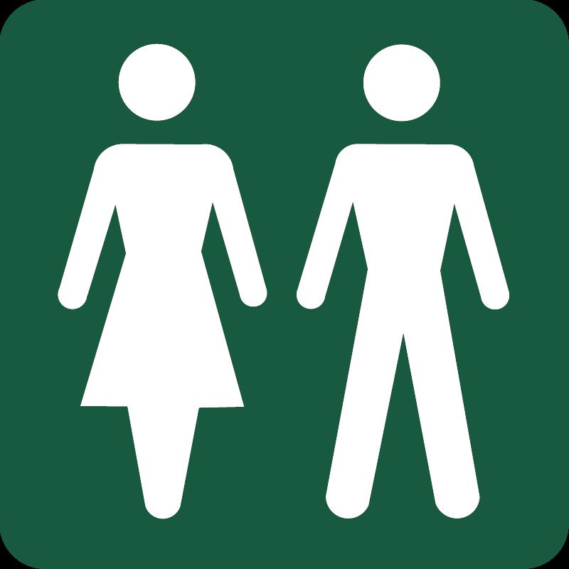 Dame Herre toilet Naturstyrelsens skilt