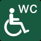 Handicaptoilet Naturstyrelsens skilt