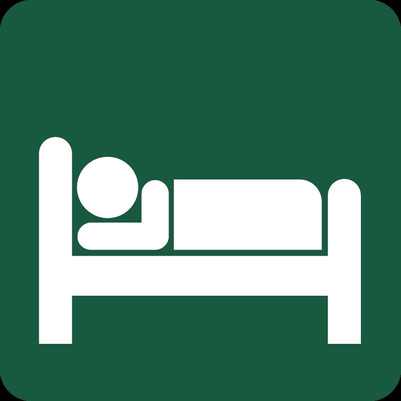 Hotel Naturstyrelsens skilt