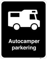 Autocamper parkeringsskilte