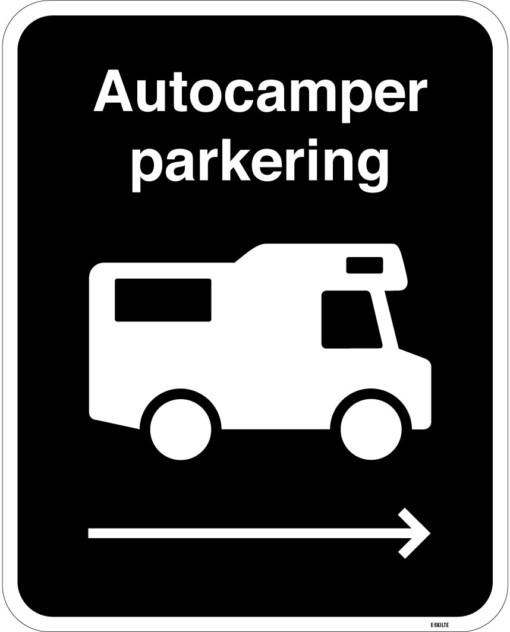Autocaper parkering skilt