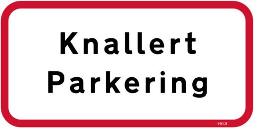 Knallert parkering skilt