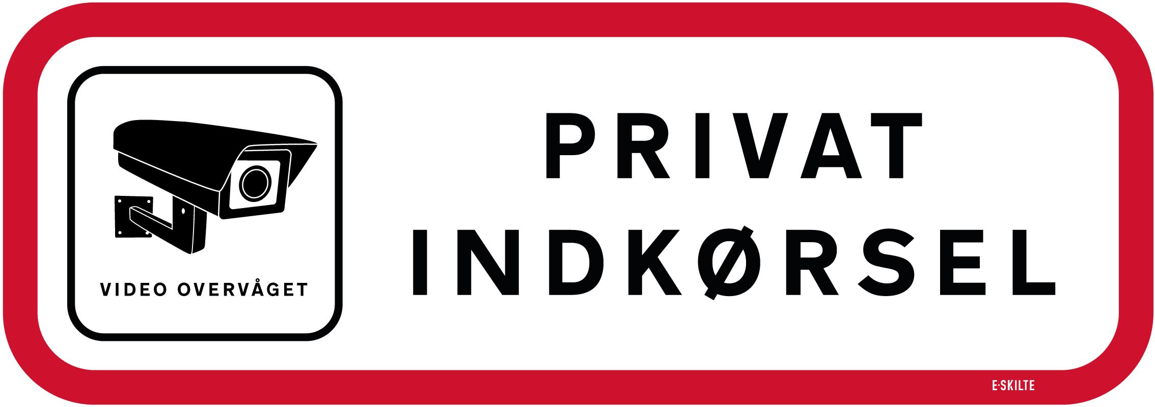 Privat indkørsel skilt