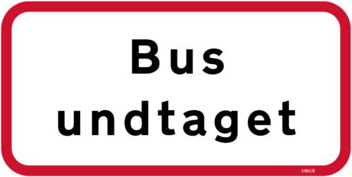 Bus undtaget skilt